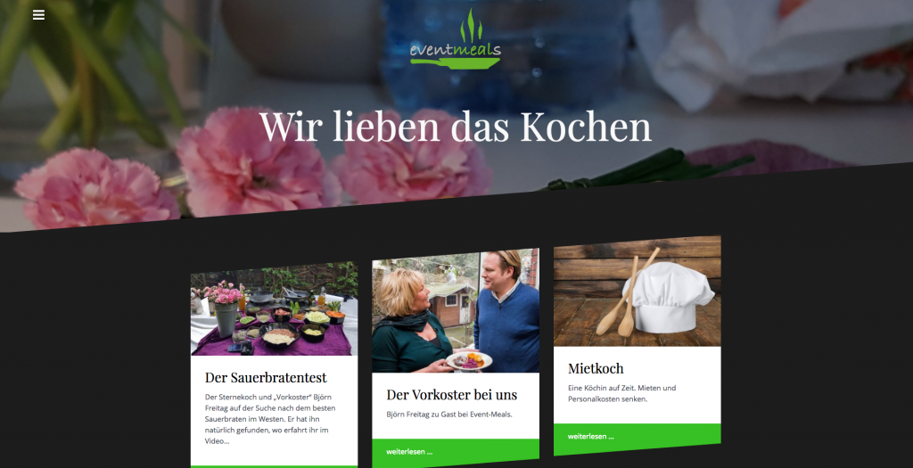 Webdesign: www.event-meals.de