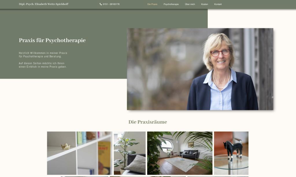 Webseite für die Praxis für Psychotherapie und Beratung HSK
